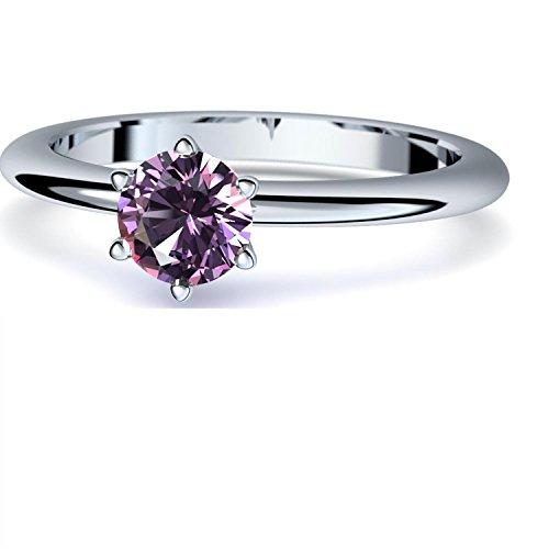 Amethyst Ring Silber 925 (***sehr hochwertiger Amethyst 5 mm***) + GRATIS Luxusetui Silberring lila Stein Silberring Amethyst Amethystringe Ringe Damen Schmuck AM195 SS925AMFA56