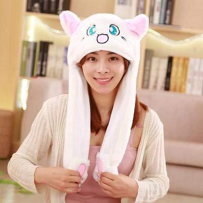 Säuglings Kostüm Angel - WXHYW Neue Hut mit Kaninchen Ohr Hut Netz rot gleich süße Kneifohren bewegen die warme Kaninchen Hut 60CM Hut Zonglu