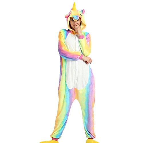 Misslight Unicorno Pigiami Animali Pigiami Pigiama Donne Tute Tostumi Vestito indumenti con unicorno festa costumi opportunamente adulti Rainbow