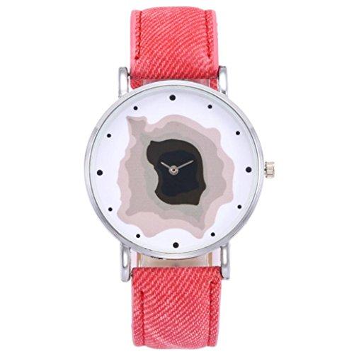 Damen Stilvolles Unisex-Uhren, Y56Quarz Einfache Business Charming Quarz-Uhren für Paar Liebhaber Herren Damen Fashion Casual Uhr mit Rund Fall