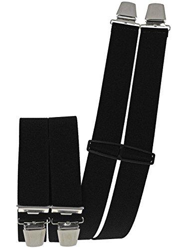 Hosenträger mit 4 extra starken Clips schwarz
