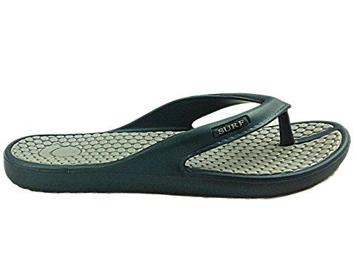 Foster Footwear ,  Unisex Kinder Unisex Erwachsene Damen Mädchen Durchgängies Plateau Sandalen Marineblau/Grau