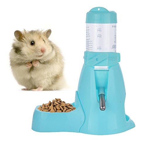 Haustier Wasserflasche Automatischen Fütterne Wasserflasche Hängende Art Wasser Feeder Brunnen Wassertrinken Spender für Hamster Ratten Meerschweinchen Frettchen Kaninchen Kleintiere (80ML, Blau)