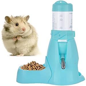 [Gesponsert]Haustier Wasserflasche Automatischen Fütterne Wasserflasche Hängende Art Wasser Feeder Brunnen Wassertrinken Spender für Hamster Ratten Meerschweinchen Frettchen Kaninchen Kleintiere (80ML, Blau)