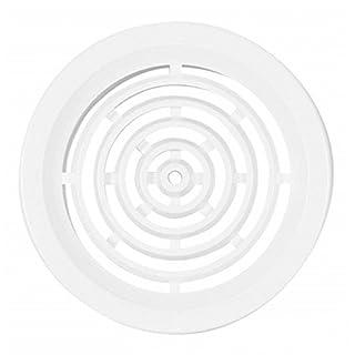 Lüftungsgitter - Abluftgitter aus Kunststoff - 4-er Set - rund - Deckmaß: 60 mm - weiß
