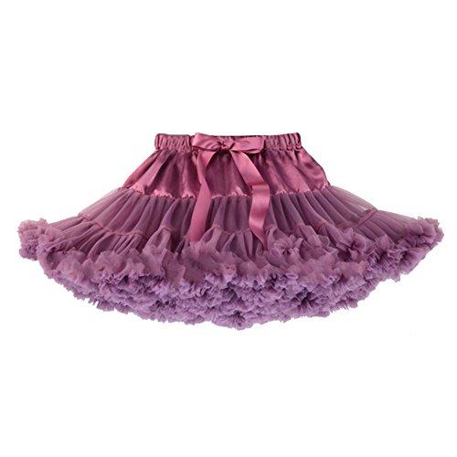 Honeystore Mädchen's Einfarbig Petticoat Tanz Tutu Kostüme Rock Purpurrot Small (Jazz Tanz Kostüme Für Mädchen)