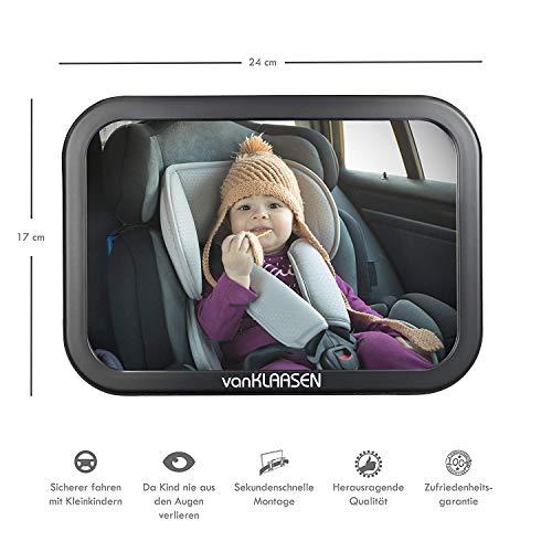 Van Klaasen – Rücksitzspiegel für Babys – Einfache Montage - Für jedes Auto geeignet