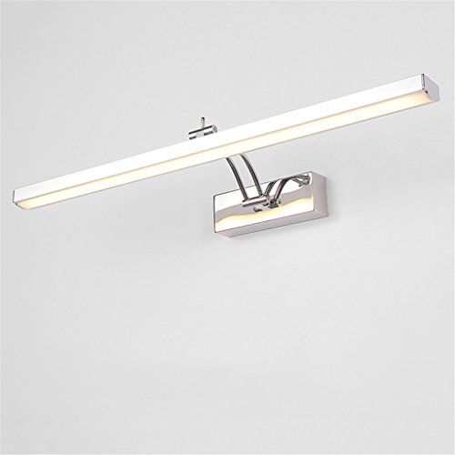 Keine 70 Twin Pack-licht (LIYONGDONG® Spiegellicht Wandlampen Bad LED Rostfreier Stahl Wasserdicht Europäischer Stil Spiegelleuchten Bad Spiegelschrank Licht Anti Nebel Retro Make-up-Lampe,70cm)