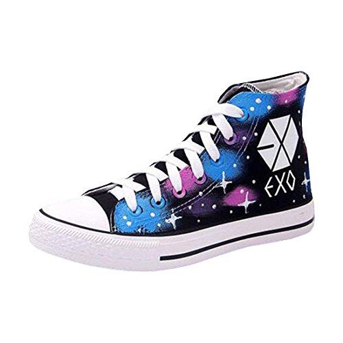 Partiss Unisex KPOP EXO Jungen Maedchen Fans Sneakers Turnschuhe Schnuerer Freizeit Schuhe Bequeme Sportschuhe wie Foto