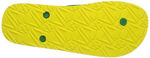 Reef  PLAYA TOBAGO, Tongs homme Multicolore - Mehrfarbig (YELLOW/GREEN / YGN)