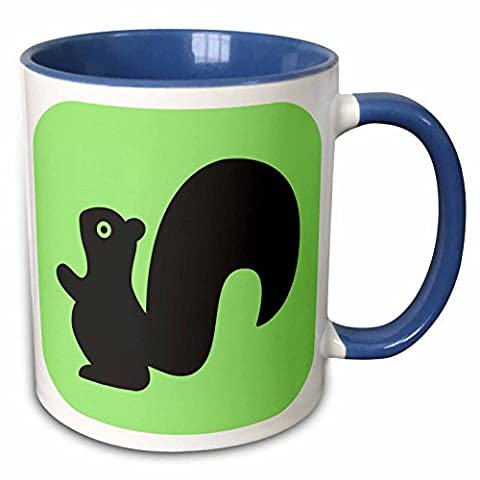 Mensuk Squirrel on Green Tile Magic Transforming Mug, 11-Ounce