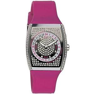 D&G Dolce&Gabbana D&G Summerland Extension – Reloj analógico de mujer de cuarzo con correa de goma lila