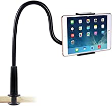 Soporte para Teléfono Celular , Ubegood cuello de cisne Teléfono móvil Clip [360 grados] Soporte de Lazy Flexible Brazos largos para el teléfono, tableta (4-10.6 Zoll)