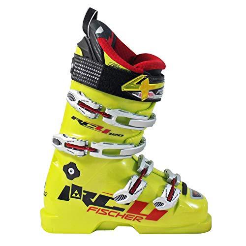 Fischer Unisex Soma RC4 Kinder Skischuhe MP24,5 EU38 2/3 Flex 120 Skistiefel Boots Jugend, gelb 24.5
