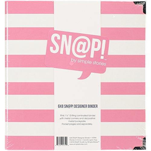 Unbekannt Simple Stories 537941Snap Designer Binder, Mehrfarbig, 6x 20,3cm - 6x6 Binder