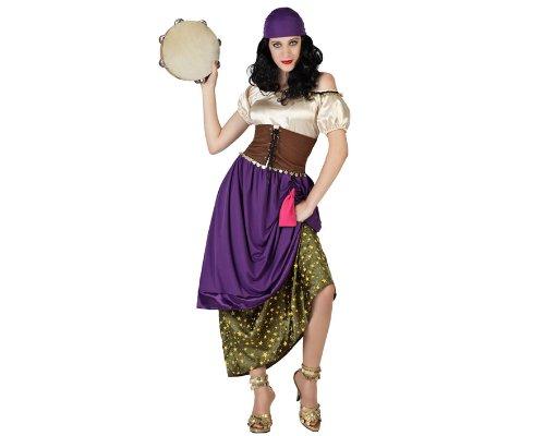 Atosa 18871 - Zigeunerin Kostüm, Größe M-L, (Erwachsene Esmeralda Kostüm)