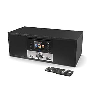 Majority King's Internetradios Wi-Fi WLAN Verbindung, DAB/DAB+/FM Digital-Radio, 30W CD-Player, Bluetooth, Fernbedienung, USB Eingang/Aufladen, Aux-in, Dual Wecker (Schwarz)