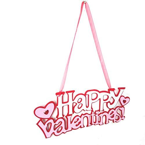 ichen Happy Valentine Day Fühlte Tür Wandbehang Scene Layout Dekoration Wand Anhänger Home Party Ornamente ()