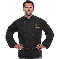 Herren Bäckerjacke Kochjacke bestickt. Kochjacken mit Kochmütze, Sternekoch und Name besticken lassen Motiv Cefkoch