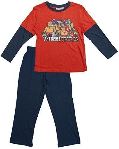 Jungen TMNT X-TREME Teenage Mutant Ninja Turtles Attack Pyjama Größen von 3 to 8 Years - Orange, 3 (Schlafanzug Mutant Turtles Ninja Teenage)