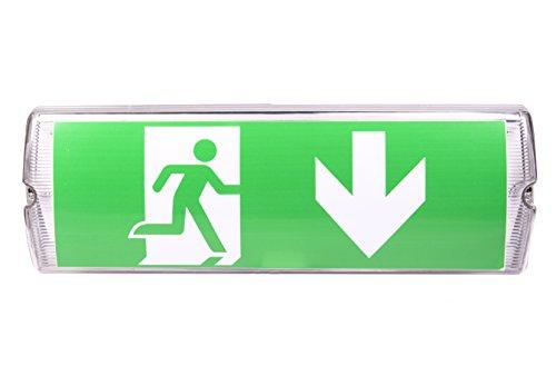 IP 65 LED Dauerlicht Notleuchte Notbeleuchtung Notausgang Fluchtwegleuchte Notlicht Fluchtweg EXIT