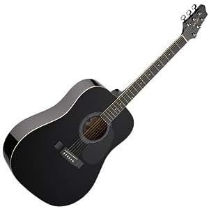 Stagg SW 201 Black Jumbo Acoustic Guitar