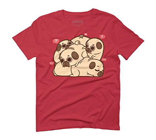 Grumble of Puglies Men's Graphic T-Shirt - Design By Humans Red