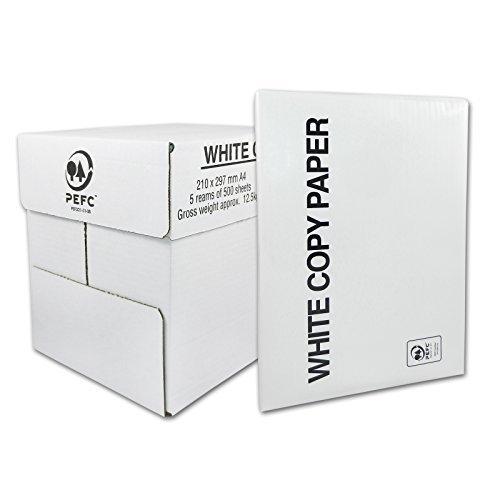 High White 80 Kopierpapier und Druckerpapier, Laser- Tintenstrahl, DIN A4, 75g/m² 2500 Blatt (5 x 500 Seiten/Blätter)