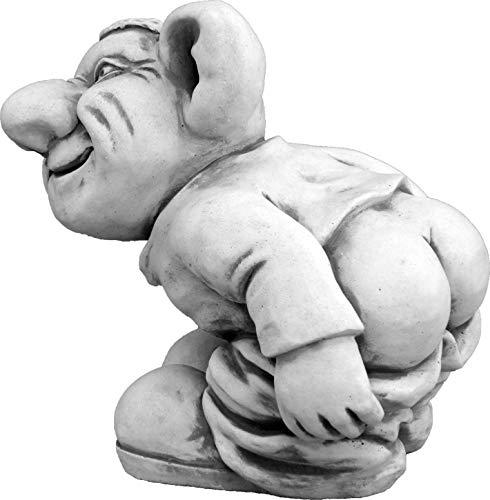 Lustiger Troll ,,Leck mich!'' aus Steinguss, frostfest