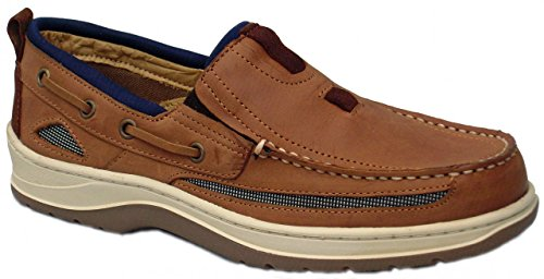 BluePort Chaussures bateau Homme Cuir nubuck hellbraun