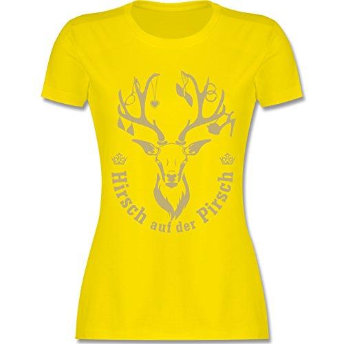 Urlaub - Hirsch auf der Pirsch - tailliertes Premium T-Shirt mit Rundhalsausschnitt für Damen Lemon Gelb