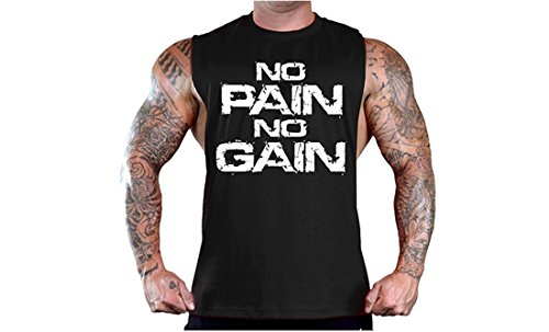 628cec7fb48c9 YeeHoo Mens sans Manches Débardeur Muscle Workout T-Shirt Bodybuilding Tank  Top Musculation de Fitness