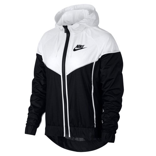 Nike Damen Windrunner Jacke, White/Black, M