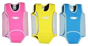 TWF Baby Wetsuit Toddler Wrap For Swimming 6-12 Months Pink