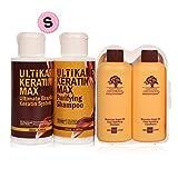 GGWAL Special Set 100Ml Keratin Treatment + 100Ml Reinigungsshampoo Mit Free Travel Argan Oil Haarshampoo Und Conditioner
