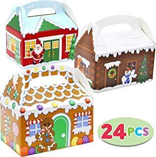 JOYIN 24 Pieces 3D Cajas Regalo Navidad Cajas Papel