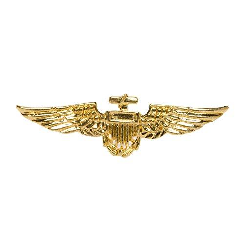 PARTY DISCOUNT Brosche Piloten-Abzeichen, Gold -