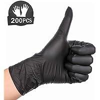 Belleza 100 Piezas // 50 Pares CAVEEN Desechables Guantes de Nitrilo sin Polvo Guantes Desechables para Limpieza Cocina L Negro