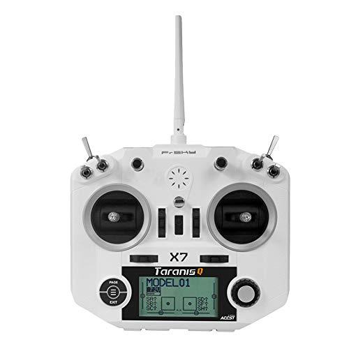 RC Transmisor, Vibración Háptica RC Transmisor de Radio para FrSky X Serie Dseries V8-II Serie Receptores(Blanco)