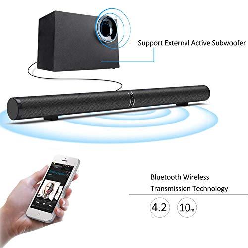 Mobile Porta Tv Con Audio Surround Integrato.Fityou Bluetooth Soundbar Audio Cablato E Wireless Con 6