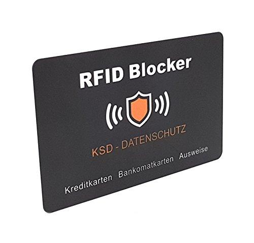 RFID Schutzkarte aus PVC Radius 3cm - schützt all Ihre NFC Bankomat sowie Kreditkarten und Ausweise for elektronischem Datendiebstahl