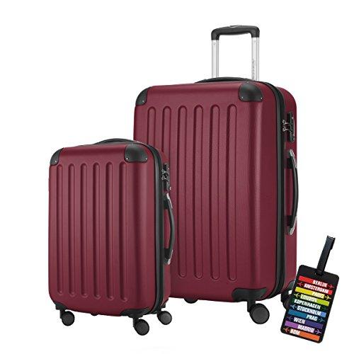 HAUPTSTADTKOFFER · 2er Hartschalen Kofferset · SPREE 1203 · Handgepäck 49 Liter + Reisekoffer 82 Liter · in verschiedenen Farben + DESIGN KOFFERANHÄNGER...
