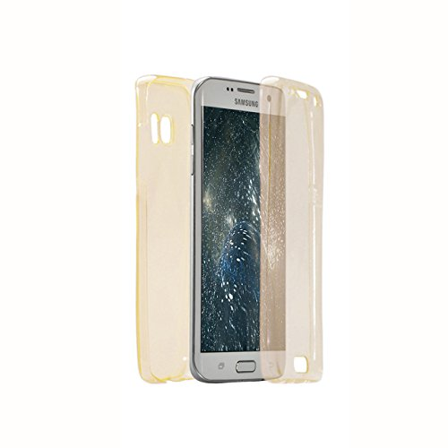 Vandot Etui Transparent Case pour Samsung Galaxy S7 Edge Coque de Protection en TPU Gel Invisible avec Absorption de Chocs Etui TPU Silicone Case Ultra Slim Thin Hull pour Samsung Galaxy S7 Edge Soupl Paillette-Or