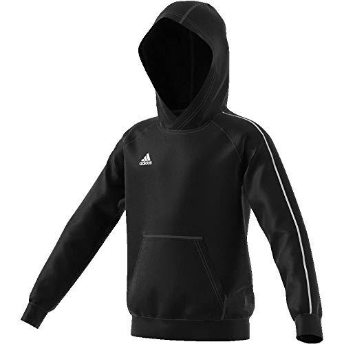 adidas Kinder Core 18 Hoodie, Schwarz (Black/White), 116 -