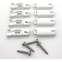 Elegant COSIFLOR Spannschuhe Für Verspannte Plissees (4 Stück) U2013 Farbe: Weiß U2013  Passend Für