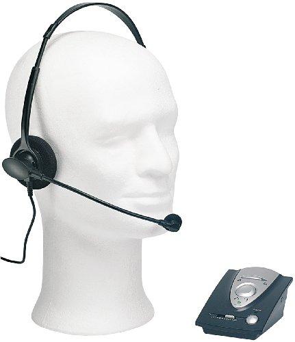 Callstel Headset Westernstecker: Profi-Telefon-Headset inklusive Connector-Box für Festnetz-Telefone (Mono Headsets für Telefone On Ear)
