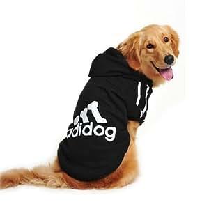 Evergreens Manteau Big Pull en coton pour chien Noir 4XL