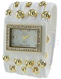 Funda inspirado en color block Reloj con correa de piel