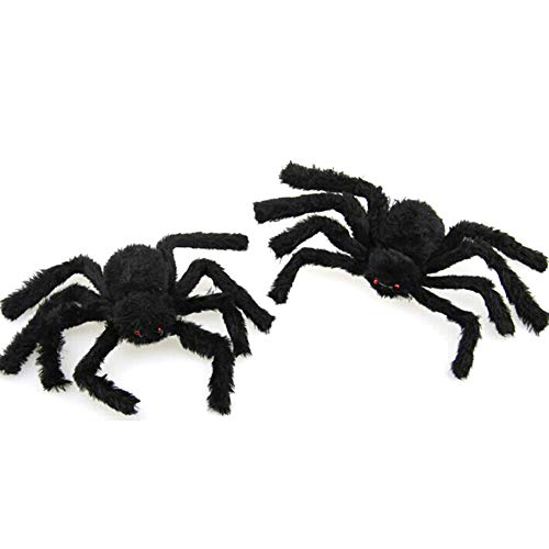 Tofree Halloween Requisiten Spider Red Eye Gruselige Simulation Plüsch Spinnen Spielzeug Bar Dekoration für Halloween Party 60 cm