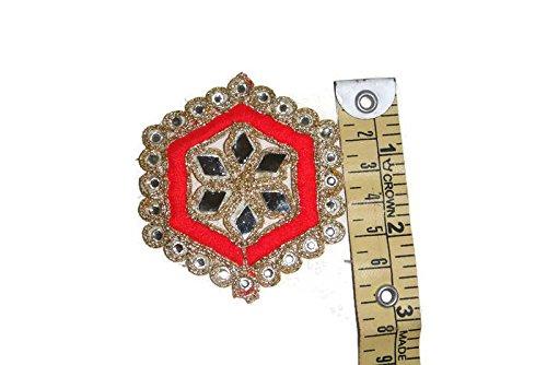 Generic Spiegel Kleid Patches Patch Spitzenkleid Patches Online Indien Hals Designs Indian Patch Work-Länge 2,5 Zoll-Preis für 02 Patches-IDE64 -